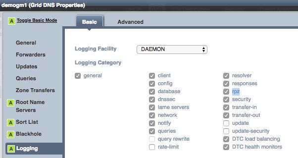Grid DNS properties